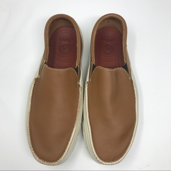 Crocs Mens Cove Sport Leather Loafer